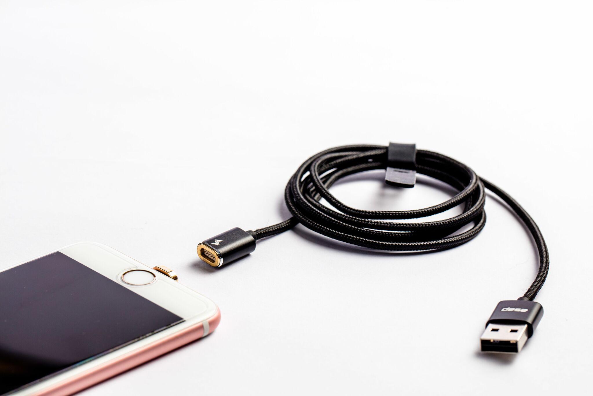 スマホ充電が驚くほど楽になる!次世代 マグネット式充電ケーブル 「asap X-Connect」